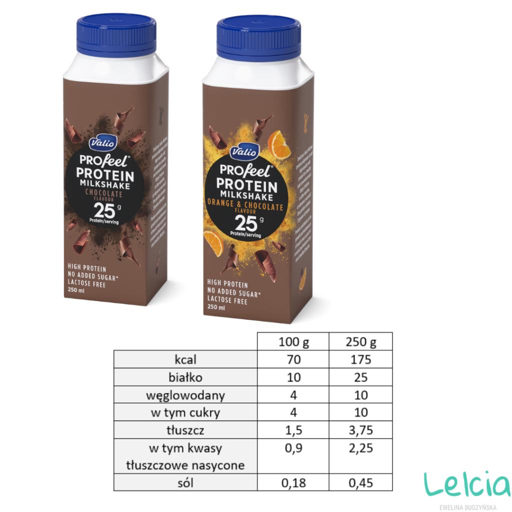 jogurty białkowe valio protein milkshake