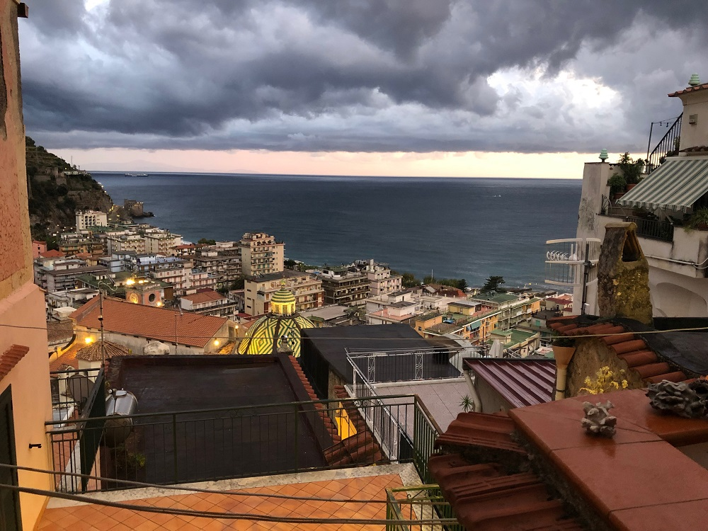 wybrzeże Amalfitańskie, widok z tarasu