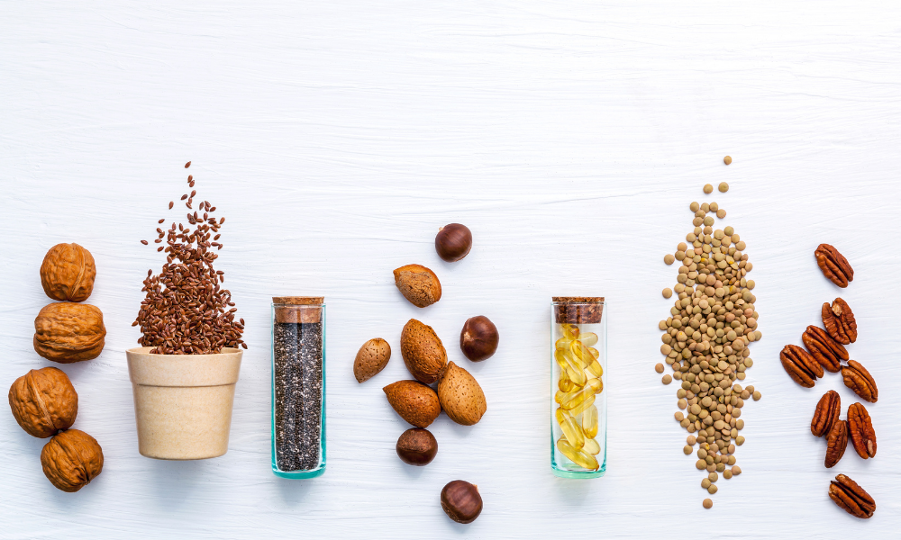 Źródła omega-3, nasiona i orzechy, lelcia.pl
